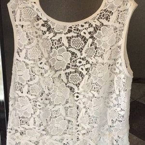 Crochet vest with back zipper